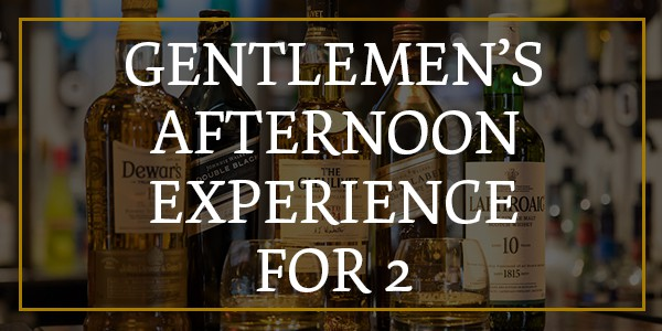 gentlemen's afternoon tea experience for two