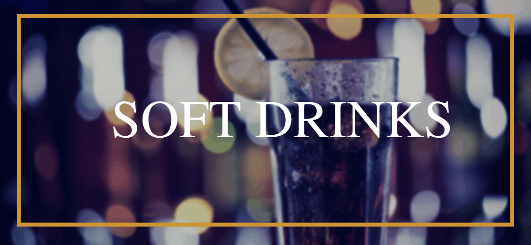 Soft drinks at Hamiltons Restaurant