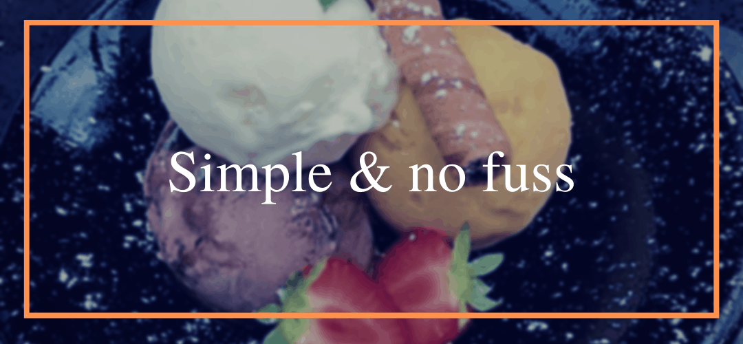 Simple and no fuss kid's menu