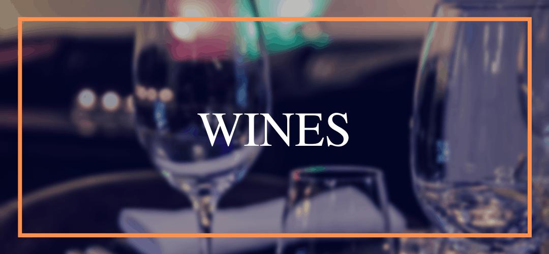 Wine list at Hamiltons Restaurant Wolverhampton